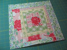 Wonky Squares-in-Squares Block tutorial by Quilt Dad