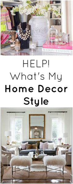 What's My Home Decor Style - Modern Glam (Images via Pink Peonies & Sally Wheat Interiors)
