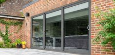 The KAT Triple Track Patio door is the latest addition to our door range & allows three sashes to slide in one direction opening up two thirds of an opening Aluminium Sliding Doors, Sliding Patio Doors, Sliding Glass Door, Glass Doors, House Windows, Windows And Doors, Sliding Door Window Treatments, Exterior Doors With Glass, Back Garden Design