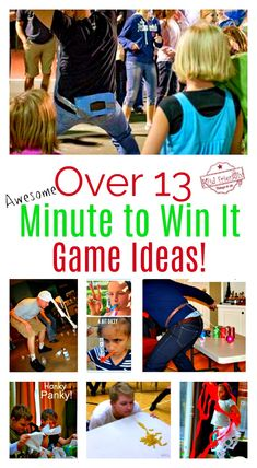 Over 13 Awesome Minute to Win It Party Games for Kids, Teens and Family to Play - Perfect for school, Christmas, New Years and all year! www.kidfriendlythingstodo.com