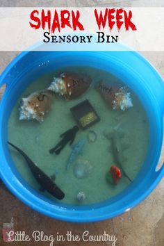 Create this awesome Shark Bin for Shark Week or just for your shark loving kids.