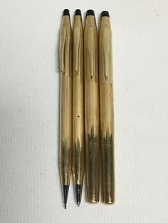Vintage CROSS Pen & Pencil Set No 6601 EMBOSSED (GF or CF) ALL 12KT