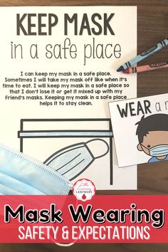 COVID-19 back to school materials for hybrid classrooms and distance learning. Set up clear expectations for the safety of you and your students during the coronavirus pandemic. Posters, printables, visual cue cards, social stories, station labels, and more for elementary school. Teach your students the safety expectations for wearing a face mask to protect themselves and others. #covid19 #facemask #hybridschool Classroom Expectations, Cue Cards, Visual Cue, School Looks, Positive Behavior, Social Stories, Classroom Management, Elementary Schools, Distance
