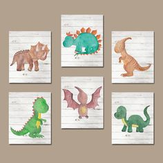 Hey, I found this really awesome Etsy listing at https://www.etsy.com/listing/472749751/watercolor-dinosaur-nursery-wall-art