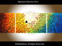 72 Original Large Abstract Impasto Painting by QiQiGallery on Etsy, $675.00