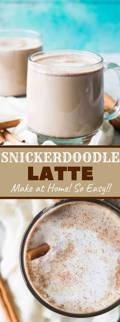 Snickerdoodle Latte Did you realize you presumably have the stuff to make a latte in your home? I generally felt that creation lattes was out of my alliance since I didn… Espresso Recipes, Coffee Drink Recipes, Tea Recipes, Snack Recipes, Coffee Cocktails, Holiday Recipes, Dessert Recipes, Kitchen Recipes, Recipies