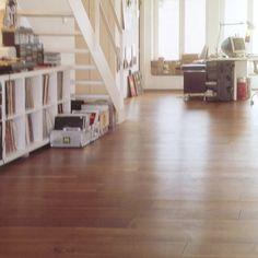Medium wood floor