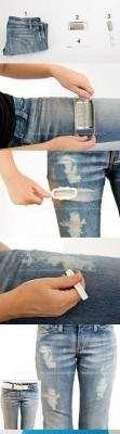 Prosty sposób na modne spodnie z dziurami