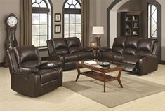 Furniture & Design :: Living room furniture :: Sofas and Sets :: Motion sofa sets :: 2 pc Boston collection Brown leather like vinyl Sofa with recliner ends and love seat with recliner ends Cheap Furniture, Discount Furniture, Home Furniture, Furniture Design, Brown Furniture, Furniture Movers, Furniture Chairs, Faux Leather Sofa, Leather Reclining Sofa