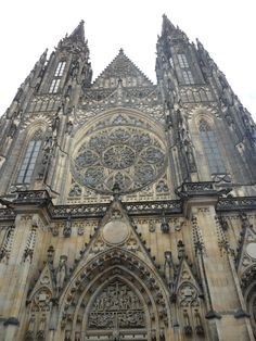 St. Vitus' Cathedral - most magnificent cathedral I've ever seen. Prague, Czech Republic