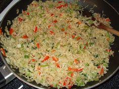 Dans les casseroles de GG: Riz à l`échalotes(et légumes)