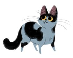 Daily Cat Drawings — 316: Spotted Cat  Quick sketch before I head home...