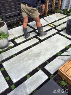 modern slab pathway layout - Google Search