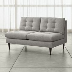 Petrie Armless Loveseat From Crate U0026 Barrel. Great Syle For A Small Studio    Only Wide