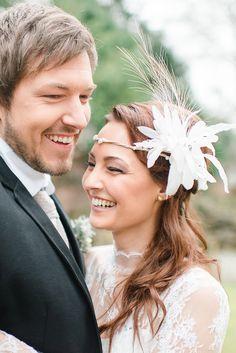 Elegante Hochzeit im Winter in zartem Serenity und Kupfer von Christiane Cloete | Hochzeitsblog - The Little Wedding Corner