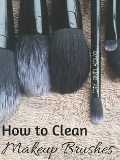 How to Clean Make Up Brushes: What's hiding in your dirty makeup brush? Oil, dead skin cells, bacteria, old makeup, dust, germies, … all which get re-slathered on your face and cause skin problems (clogged pores, acne).