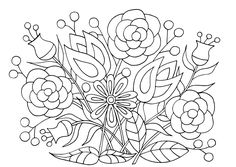 Coloring Pages of Flowers — Happies Detailed Coloring Pages, Pattern Coloring Pages, Flower Coloring Pages, Free Coloring Pages, Coloring Books, Wonderful Flowers, Flowers For You, Iris Flowers, Beautiful Flowers