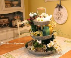 Priscillas: A Year of the Galvanized Tiered Tray