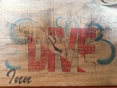 Pinterest win... My bar name on wood using wax paper