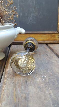 Antique Glass Door Knobs, Round Door Knob, Edwardian Style by ElisabethMacBeth on Etsy