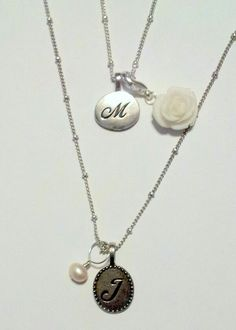 Need a gift idea? How about a simple initial tag with a dangle, earth element or crystal element? www.createstories.origamiowl.com