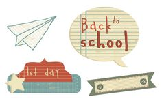 Back to School digital freebies from Creative Memories - click to download the embellishments!
