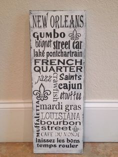 Wooden Distressed New Orleans Sign by SwirlyTwirlyDesigns on Etsy, $50.00
