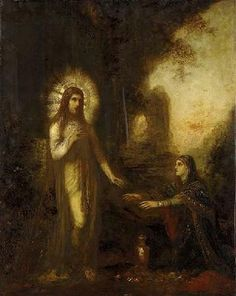 Christ and Mary Magdalene by Gustave Moreau