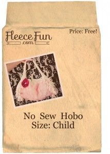 No Sew Hobo Purse on www.fleecefun.com