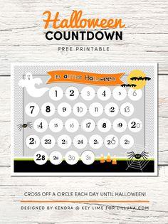 FREE Halloween Countdown printable - the kids will love this! Get the free print on { lilluna.com }