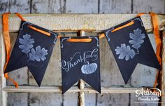 I love chalkboard art! ~Mercedes Weber Stampin' Up! Fall Paper Crafts, Paper Crafting, Crafts To Make, Arts And Crafts, Halloween Cards, Halloween Decorations, Chalkboard Banner, Some Cards, Thanksgiving Cards