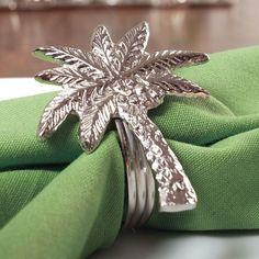 Palm tree napkin holders