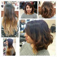 New look on Gabby!! #beautybycolbytanguay#olaplex #ombre #shorthair #ochairstylist #schwarzkopf