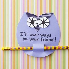 Valentine's Day Give a Hoot Card, plus 37 other cute homemade valentines