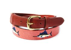 Asher Riley Collection. Needlepoint belt. Designed in the USA. Hand-Stitched 100% Cotton. Full Grain Leather Tab. Solid Brass Buckle. More affordable than our competitors. Please allow 4-6 weeks for quality hand stitching. www.asherriley.com Custom design available. #AsherRiley #AsherRileyC