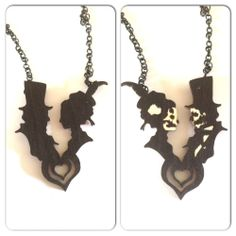 Til Death do us Part reversible necklace.