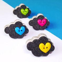 Items similar to Cloud Pin - Felt Cloud Brooch - Cute Pin Brooch - Silver Lining Pin - Weather Jewelry - Felt Brooch Pin on Etsy On The Bright Side, Felt Brooch, Glitter Fabric, Silver Lining, Handmade Felt, Pin Badges, Sheffield, Felt Crafts, Color Splash