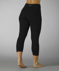 Another great find on #zulily! Black Tummy-Control Capri Leggings #zulilyfinds