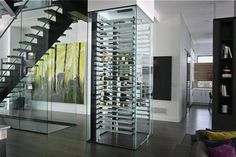 [New] The 10 Best Home Decor (with Pictures) - House goals is having a custom wine rack under the stairs! Check out for more custom wine racks! Glass Wine Cellar, Home Wine Cellars, Wine Cellar Design, Wine Display, Wine Wall, Wine Cabinets, Custom Glass, Wine Fridge, In Vino Veritas