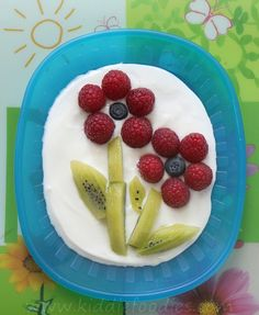 Fresh fruit flower - healthy and easy dessert recipe - Kiddie Foodies