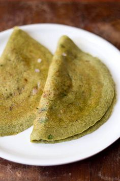 Moong Dal Dosa - Crepes made from whole moong/mung beans. Vegan & Gluten Free.