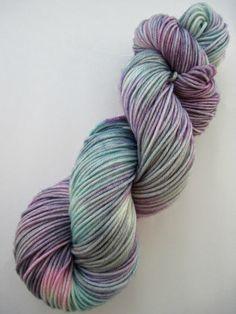 hand dyed yarn hand painted yarn by WeeChickadeeWoolery on Etsy