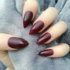 Matte nails with top coat tips