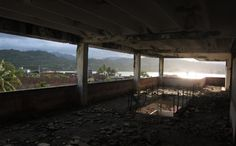 Abandoned school with a view in Baracoa, Cuba