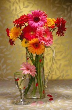 cernter pieces with gerbera daisy | Gerbera Daisy Centerpiece 12