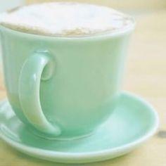 vintage mint coffee cup
