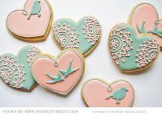 batizado tema passarinho - Pesquisa Google (diy royal icing cookies)
