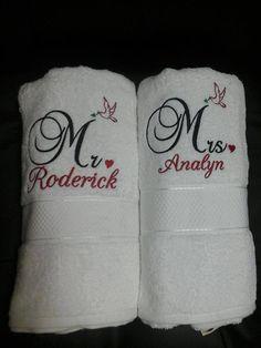 Customized COUPLE Towel by RJNEEDLECRAFT on Etsy