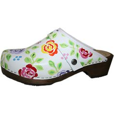 White Brocade Rose | Tessa Clogs