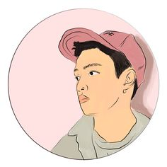 A circle sticker design of Kyungsoo from the group EXO  #exo #exol #suho #kai #chanyoel #lay #jongin #kpopfanart #illustration #digitalillustration #cute #stickers #kawaii #kyungsoo #d.o #exodo #exod.o #exokyungsoo